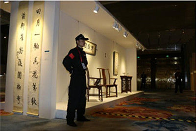 天津保安公司香格里拉大酒店画展...