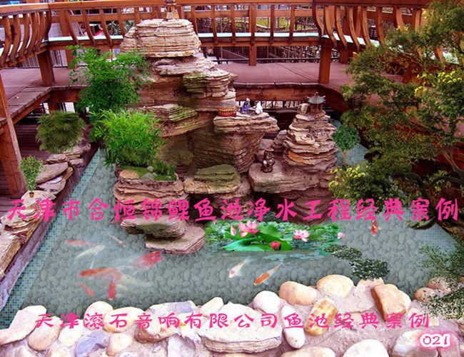 錦鯉魚池設計-滾石音像