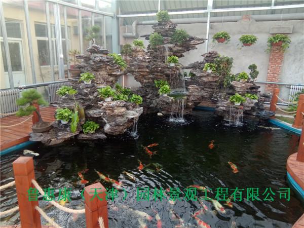 天津锦鲤鱼池过滤