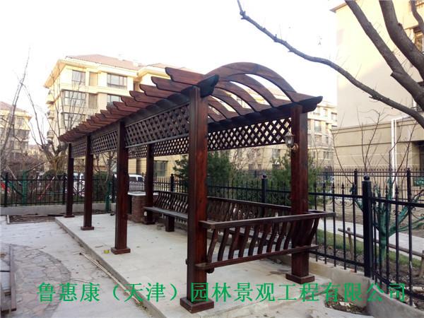 天津防腐木花箱花架
