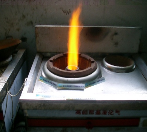 醇基燃料燃烧效果