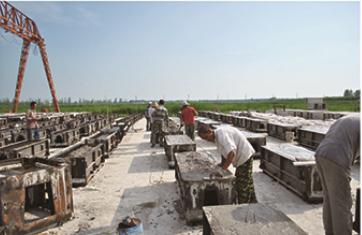 装配式砼节水灌溉渠道厂内制作